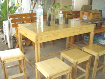 bàn ghế gỗ cây thiên ngân